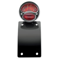 NYC Choppers 1928 Side Mount Taillight and License Plate Combo Vertical Mount