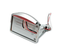 Horizontal Mount Flat License Plate with Half Moon LED Taillight