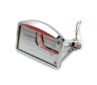 Horizontial Mount Flat License Plate with Half Moon LED Taillight