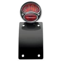1928 Bobber Side Mount Taillight License Plate Combo Vertical Radius