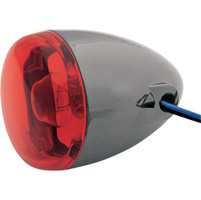 Black Nickel Red Rear Signal with Dual Filament Hollow Stem Mount