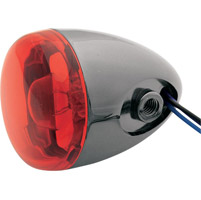 Black Nickel Red Rear Signal with Dual Filament Bracket Mount