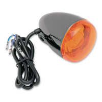 Front Signal Light Black Nickel Amber Dual Filament Stem Mount