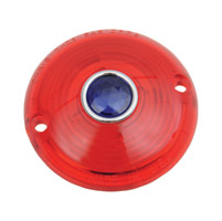 Chris Products Red Turn Signal Lenses With Blue Dot