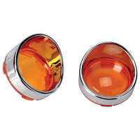 Amber Visor-Style Bezels and Lens for Deuce-Style Turn Signal