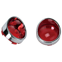 Red Visor-Style Bezels and Lens for Deuce-Style Turn Signal