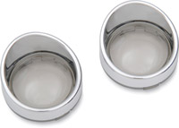 Smoke Visor-Style Bezels and Lens for Models with Deuce-Style Turn Signal