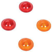 Replacement Amber and Red Lenses for 1-1/2″ Marker Lights