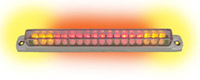 Chrome Universal Led Light Bar with Integrated Turn Signals