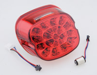 J&P Cycles® Webbed LED Taillight with Red Lens