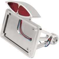 Flat Horizontal Side-Mount Deco Taillight with License Plate Mount