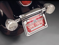 Show Chrome Accessories Raised License Plate Holder with Red LED Light