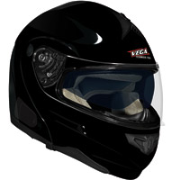VEGA Summit 3.0 Gloss Black Modular Helmet V-Com Compatible Optional System
