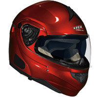 VEGA Summit 3.0 Candy Red Modular Helmet V-Com Compatible Optional System