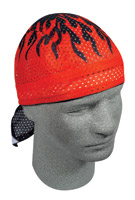 ZAN headgear Red Flames Vented Flydanna