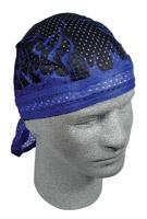 ZAN headgear Royal Blue Flames Vented Flydanna