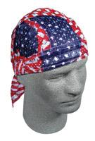 ZAN headgear Wavy American Flag Vented Flydanna