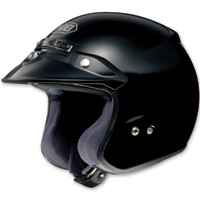 Shoei RJ Platinum-R Black Open Face Helmet