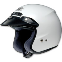 Shoei RJ Platinum-R White Open Face Helmet