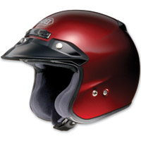 Shoei RJ Platinum-R Wine Red Open Face Helmet