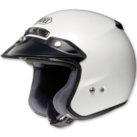 Shoei RJ Platinum-R Crystal White Open Face Helmet