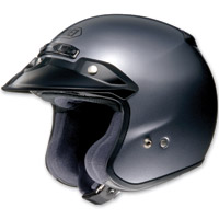 Shoei RJ Platinum-R Pearl Gray Open Face Helmet
