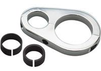 Pro-One Chrome Stash Tube/Oil Cooler Clamp 1″ to 1-1/4″ Frame Tube