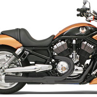 Bassani Road Rage Ceramic Black 2-into-1 Short Megaphone Muffler