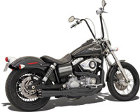 Bassani Road Rage II Mega Series 2-into-1 Black Exhaust System