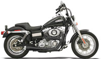 Bassani Road Rage Ceramic Black 2-into-1 Short Megaphone Muffler Unstepped Version