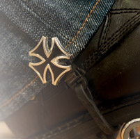 Biker Boot Straps Replacement Maltese Cross Clip