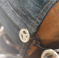 Biker Boot Straps Replacement Studded Peace Clip
