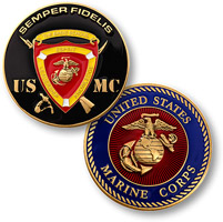 Motordog69 USMC Coat of Arms Coin