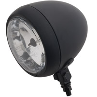 4-1/2″ Black Smooth Headlight