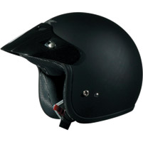 AFX FX-75 Flat Black Open Face Helmet