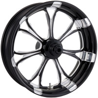 Performance Machine Paramount Platinum Black Front Wheel, 18″ x 3.5″