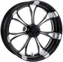 Performance Machine Paramount Platinum Black Front Wheel, 21″ x 3.5″
