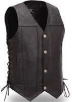 First Manufacturing Co. Men's Gun Slinger Black Leather vest