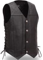 First Manufacturing Co. Men's Gun Slinger Black Leather vest