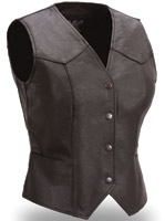 First Manufacturing Co. Women's Fitted Snap Front Vest