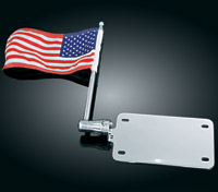 Kuryakyn License Plate Mounted Flag