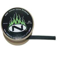 NAMZ Custom Cycle 25' Black Braided Cable Cover 1/2″ ID