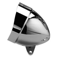 Headwinds 5-3/4″ Chrome Classic Smooth Headlight Housing with Visor