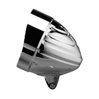 Headwinds 5-3/4″, Visor Billet Classic Grooved Headlight Housing