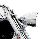 Adjure 5-3/4″ Chrome Flamed Rodeo Drive Headlight Bucket with Visor