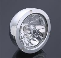 Alloy Art 5-3/4″ Raw ″Pan″ Style Headlight Assembly