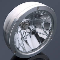 Alloy Art 7″ Raw ″Pan″ Style Headlight Assembly