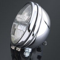 5-3/4″ Chrome Smooth Headlight Assembly