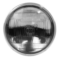 J&P Cycles 6-1/2″ Black Replica Headlight Assembly
