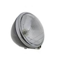 J&P Cycles 6-1/2″ Black Replica Headlight Assembly